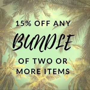 15% off any bundle of two or more items.